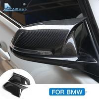 Airspeed for BMW F20 F21 F22 F23 F30 F31 F34 F32 F33 F36 E84 X1 I3 F87 Accessories Carbon Fiber Car Rearview Mirror Trim Cover