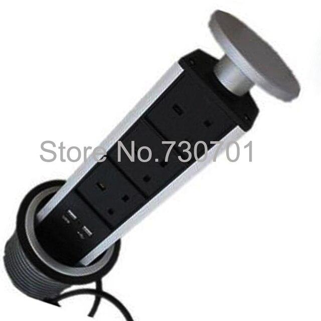 Good UAE Tablet Chrge UK Standard Tabletop Type Electric Pop Up Power Tower  Kitchen/Desktop Socket