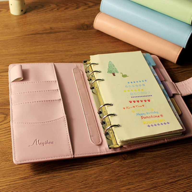 A5/A6 note books for school Macarons hand book spiral notebook diary leather spiral cute creative note books diary for travel it8712f a hxs