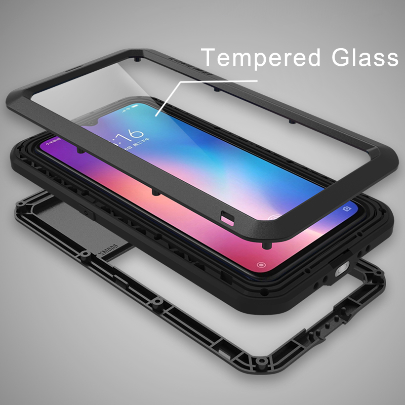 Image 4 - Gorilla glass film gift)Waterproof Heavy Duty Protective Case For Xiaomi Mi 9 Case Shockproof Metal Armor Cover Xiaomi Mi9 Case-in Fitted Cases from Cellphones & Telecommunications