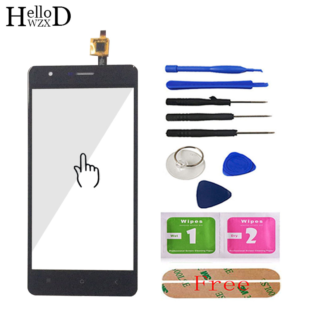 5.0'' Mobile Phone Touch Glass For Oukitel K4000 Lite Touch Screen Glass Digitizer Panel Lens Sensor Tools Free Adhesive