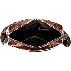 Image 3 - WESTAl mens shoulder bag genuine leather crossbody bag for men vintage messengr bag male flap zipper high quality handbags 8513