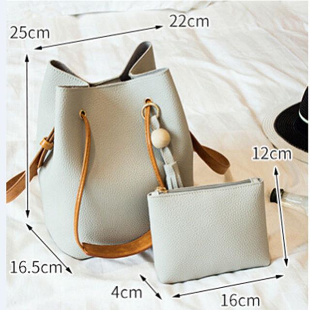 Fashion Casual Tassel Women Bag Litchi PU Leather Women Top-handle Bag Single Shoulder Bag Women Crossbody Bag