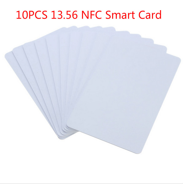 White 10Pcs/Pack PVC NFC Smart Card Tag S50 For IC 13.56MHz RFID Readable Writable 8.5 x 5.4 x 0.1cm New alouette remote control electric skateboard scooter maple wood electric board longboard hub motor dual drive lg battery