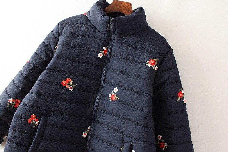 Slim Bas Chaud Coupe Parka Veste Marron Bleu Vers Nouveau Kindy Zipper Manteau vent marine Lumineux 2018 Hiver Femmes Couleur Le Pour Femme Brillant 67gbfYy