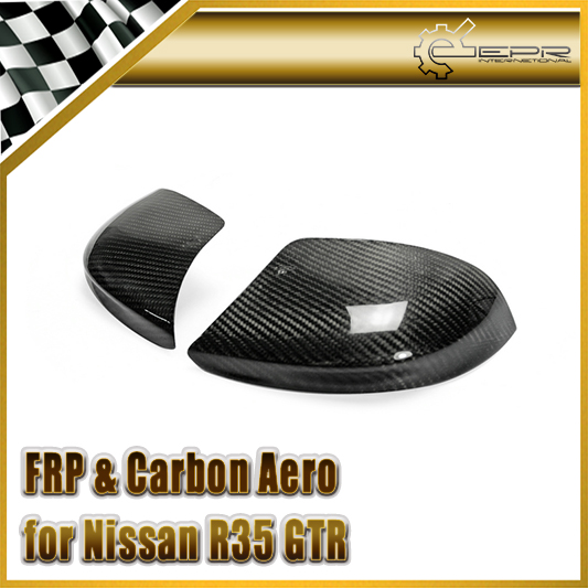 Car-styling For Nissan R35 GTR Real Carbon Fiber Lower Mirror Cover Outside Mirror Shell new 2pcs side mirror cover for nissan skyline r34 gtt gtr carbon fiber car accessories car styling