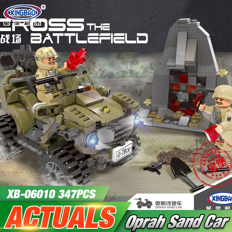 XINGBAO 06010 Genuine 347Pcs Military Series The Oprah Sand Car Set Building Blocks Bricks Toys As New Funny Christmas Boy Gift hot sale 1000g dynamic amazing diy educational toys no mess indoor magic play sand children toys mars space sand