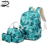 FengDong kızlar çiçek okul sırt çantası çocuklar okul çantası seti çin tarzı kalem kalem çantası çiçek sırt çantaları çocuklar için sırt çantası
