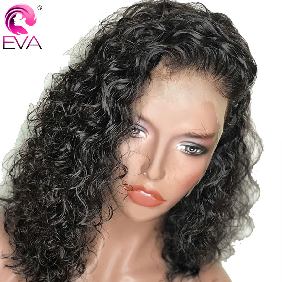 4.5x4.5 Silk Base Lace Front Human Hair Wigs With Baby Hair Curly Brazilian Remy Hair Silk Top Lace Wigs Bleached Knots EVA Hair-in Human Hair Lace Wigs from Hair Extensions & Wigs    1