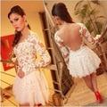 Mulheres Vestidos de Renda 2016 Mulheres Se Vestem Ternos Para Casamentos Mulheres Chiffon Vestido de Verão Womens Backless Lace Chiffon Vestido Estilo Quente