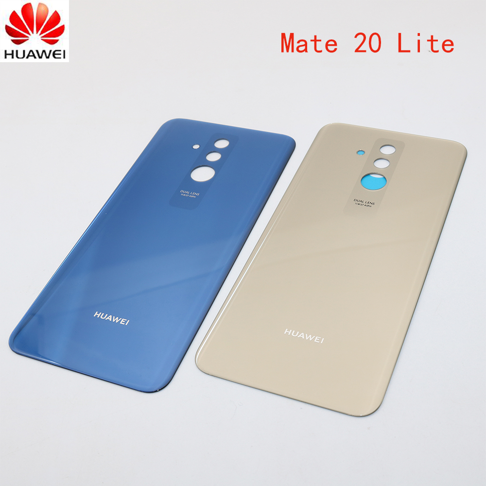 Case Cover Mate Glass Back-Battery Huawei Rear-Door 20-Lite for 100%Original