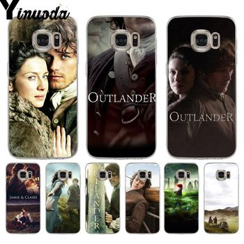 Yinuoda OUTLANDER tv hot Jamie Fraser New Personalized Phone Case for samsung galaxy S9 S7 S6 edge plus S5 S9 S8 plus Note 9 image