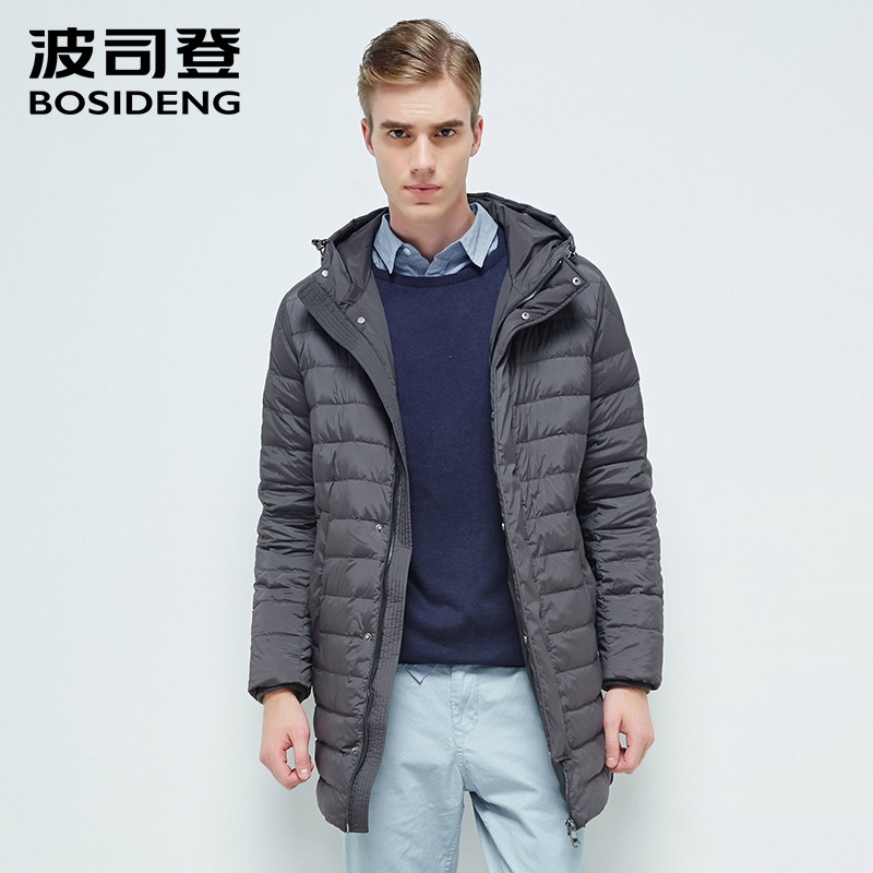 Здесь продается  BOSIDENG men 2017 new 90% duck down coat long down jacket warm outwear mid-long down parka hooded smart casual wear B1601049  Одежда и аксессуары