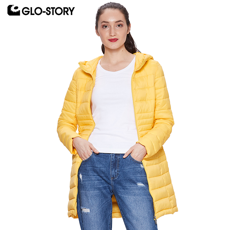 GLO STORY 2018 Fall Women s Winter Coat Lightweight Parka with Hooded Zipper Closure Ladies Winter