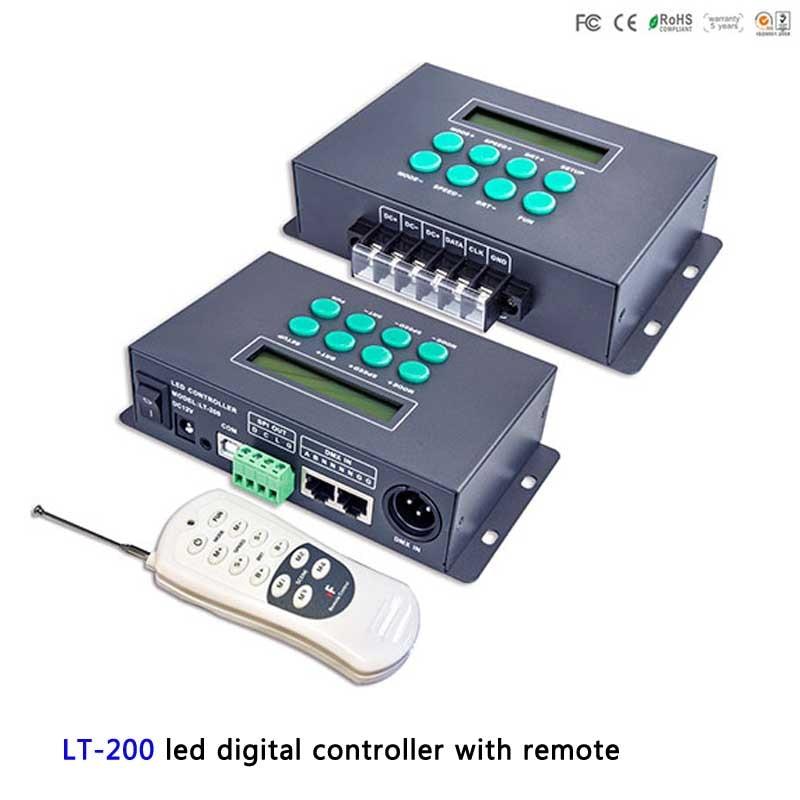 LT-200; led Digital controller with Remote WS2811 WS2812B LPD6803 LPD8806 Pixel strip SPI(TTL) signal output;1024 pixels h803sc led sd pixel music controller spi ttl signal output 4096 pixels controlled