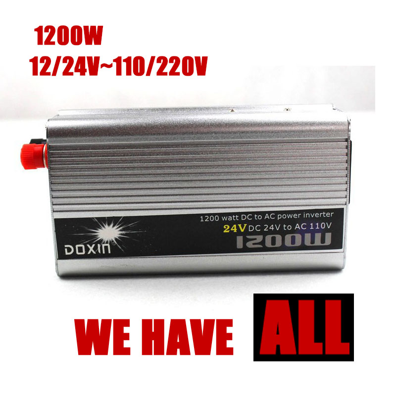 1200W WATT DC 12 24 V zu AC 110 <font><b>220V</b></font> Tragbare Auto Power <font><b>Inverter</b></font> Adapter Ladegerät Converter Transformator image