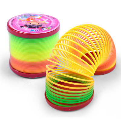 Saizhi Rainbow Fashion Toys Colorful Rainbow Circle Folding Plastic Spring Coil Children's Creative Educational Toys