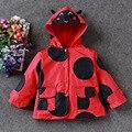 free shipping cartoon print medium-long girls thickening  thermal outdoor parkas coat warm jacket
