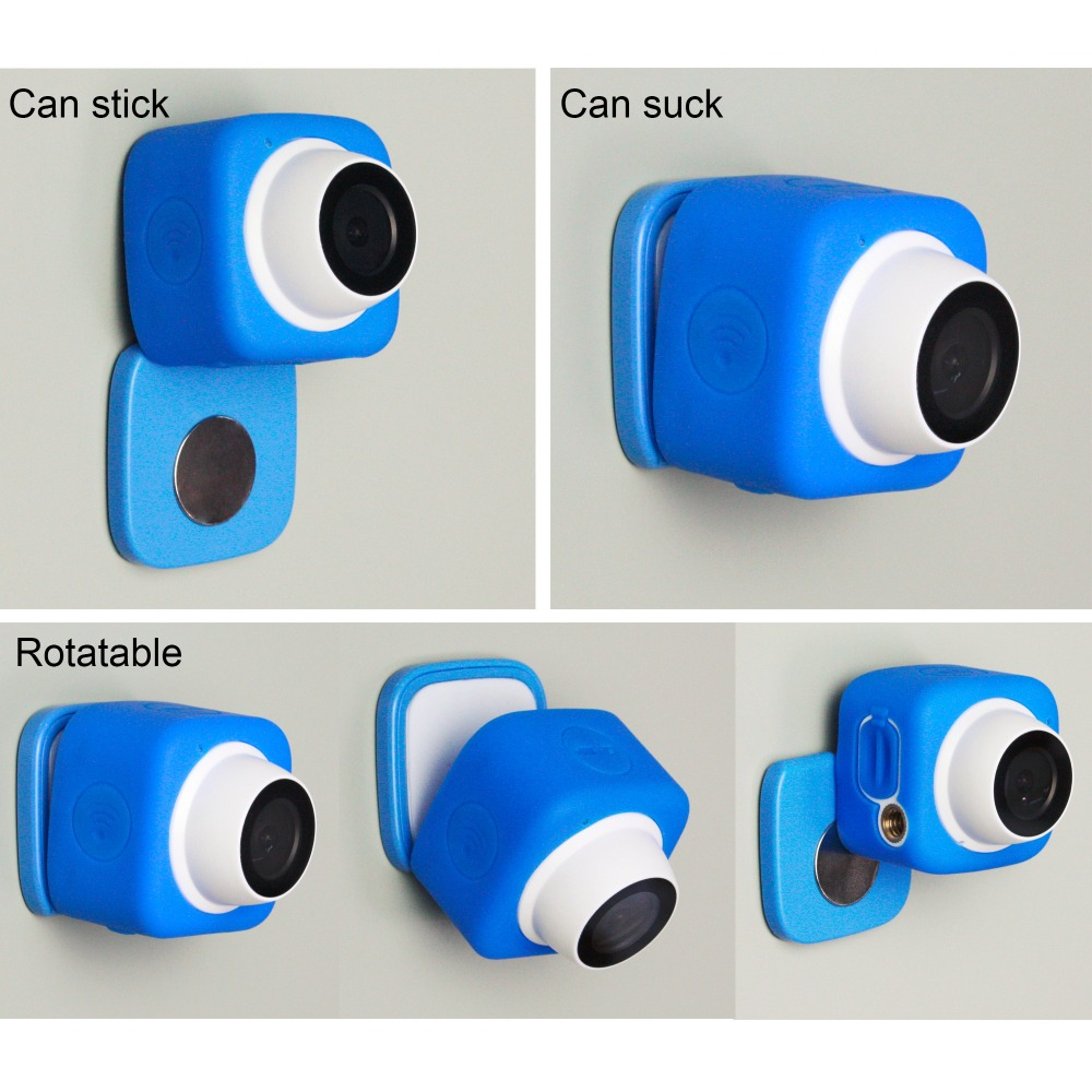 WIFI Selfie Camera Color HD Wide viewing angle Micro USB Camera WIFI Portable Video Camera with TF Card,remote control function free shipping wifi ir remote control digital camera dv 126 1080p 30fps 170d viewing angle camera