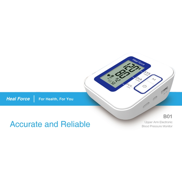 Heal Force B01 Upper Arm Type Blood Pressure Measuring Instrument Health Care Automatic Digital Blood Pressure Monitor12 high quantity medicine detection type blood and marrow test slides