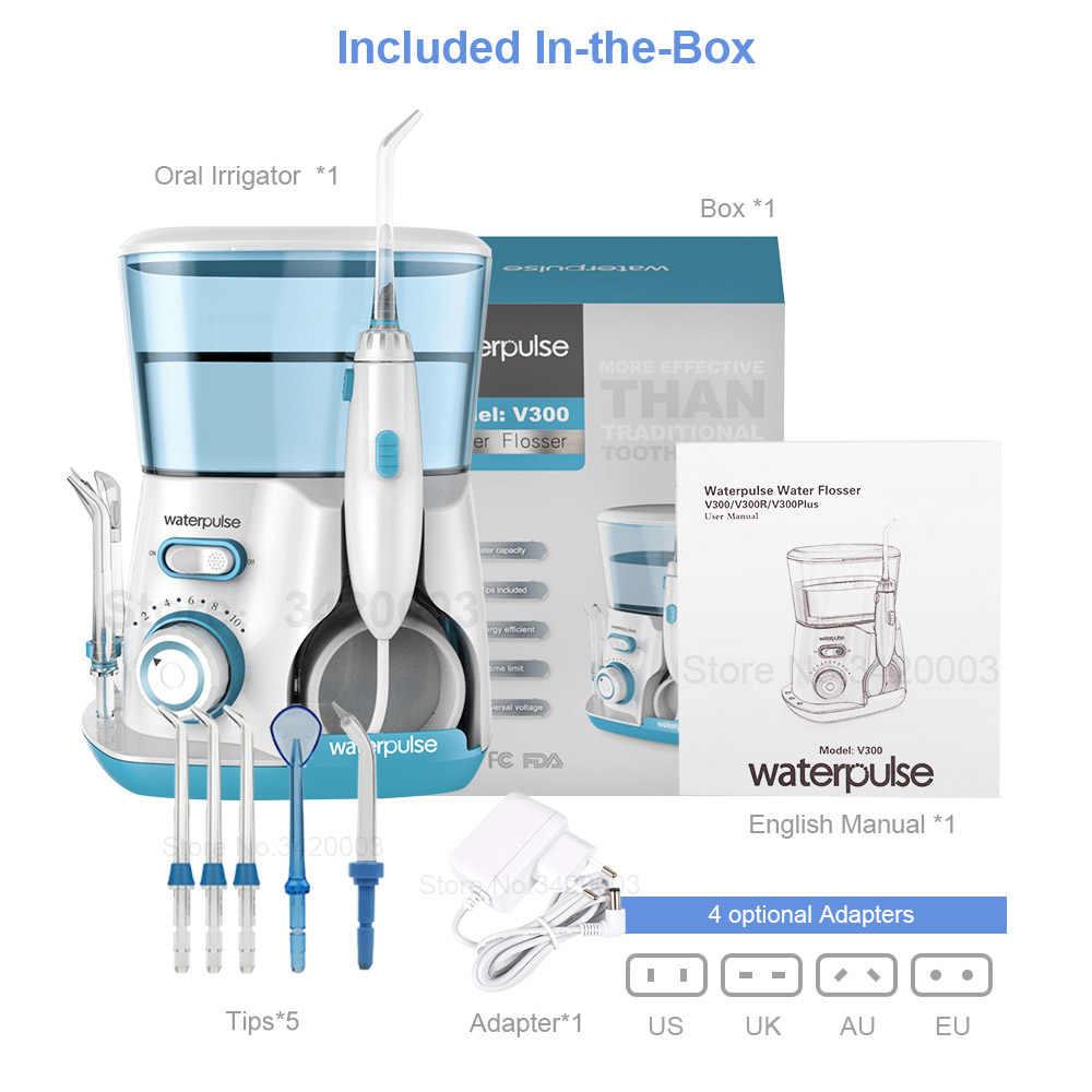 Waterpulse V300G irygator doustny 5 sztuk porady irygator do zębów nici wody 800ml higiena jamy ustnej nić dentystyczna do czyszczenia wodą V300