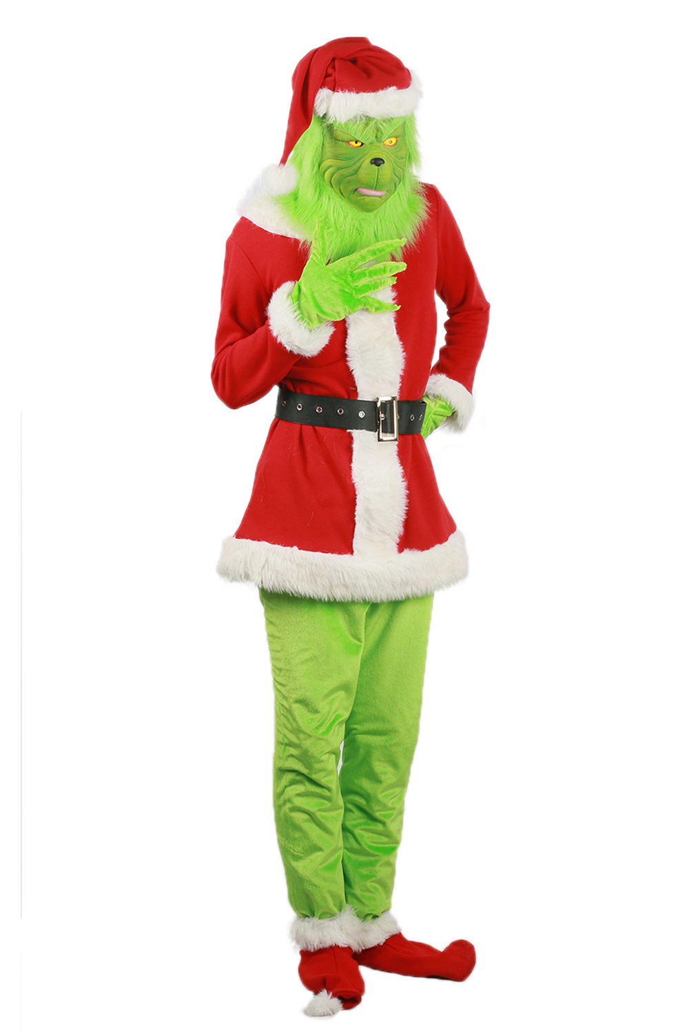 How The Grinch Stole Christmas Costumes.Coslive Original Grinch Costume Movie How The Grinch Stole Christmas Cosplay Outfit Full Set