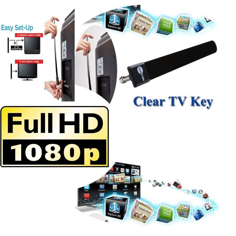 Indoor Digital TV Antenna Clear TV Key Antena HDTV Free Fire Smart TV Stick Aerial Signal Receiver ATSC PAL DVB-T DTV