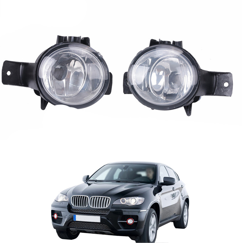 Left & Right Car Front Lateral Fog Light Foglamp For BMW X6 E71 E72 2008 2009 2010 2011 2012 Car Lighting #W090 for vw golf 6 gti 2009 2010 2011 jetta 6 gli 2011 2012 2013 2014 new front right halogen new fog lamp fog light car styling