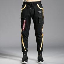 Брендовые мужские брюки хип-хоп шаровары весна осень мужские брюки s джоггеры узкие брюки мульти-Спортивные Брюки с карманами