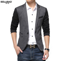 New 2015 Fashion Blazer Men Casual Suit Jacket Slim Thin Men Blazer Gray Blazer Suits For