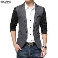 New 2015 Fashion Blazer Men Casual Suit Jacket Slim Thin Men Blazer Gray Blazer Suits For