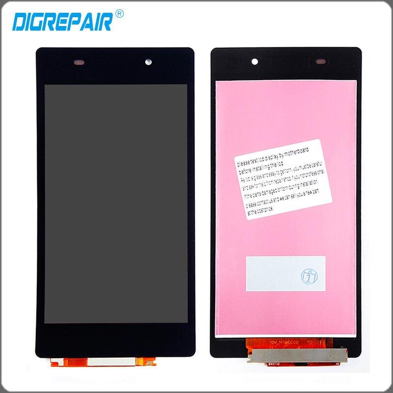 imágenes para Negro Para Sony Xperia Z2 L50W D6502 D6503 LCD Display de Pantalla Táctil Digitalizador Completo Montar piezas de repuesto