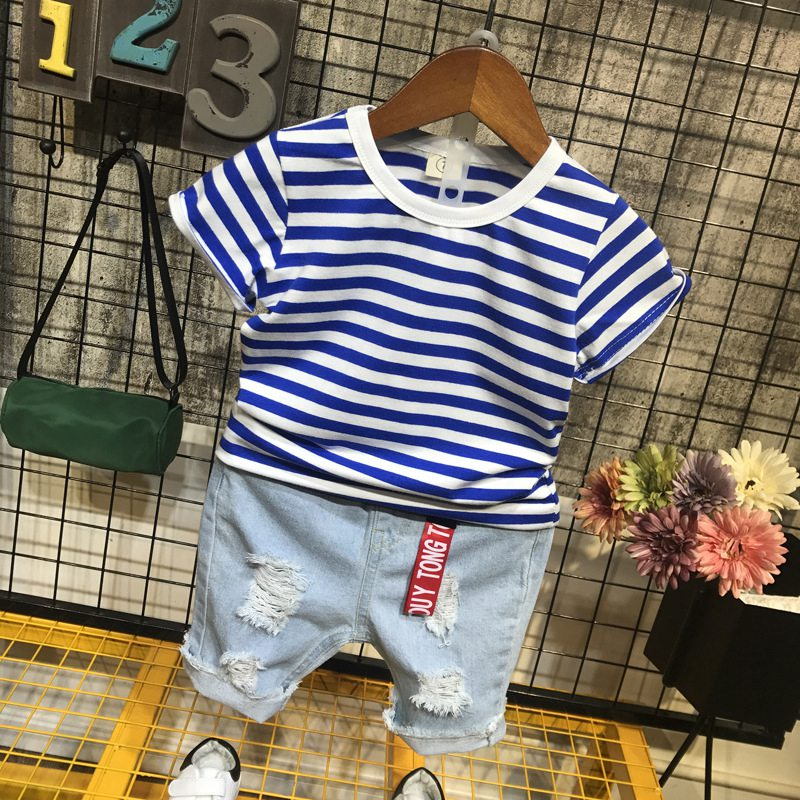 Baby Girl Clothes 2018 Summer New Boy Striped Short-Sleeved T-Shirt + Shorts 2PCS Bebes Jogging Suit Kids Clothes Set SportswearBaby Girl Clothes 2018 Summer New Boy Striped Short-Sleeved T-Shirt + Shorts 2PCS Bebes Jogging Suit Kids Clothes Set Sportswear