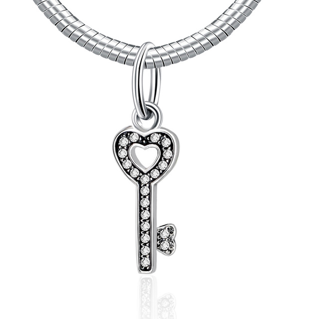 Authentic 925 Sterling Silver Bead Charm Symbol Of Trust Love Heart