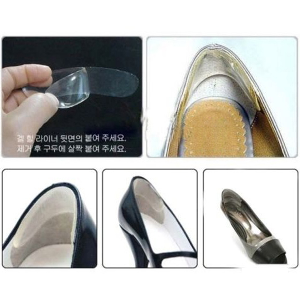 3 Pairs Silicone Back Heel Stickers Insoles Durable Thicken Heel Stickers Women Feet Anti-wear Cushion Pads Shoe Accessories