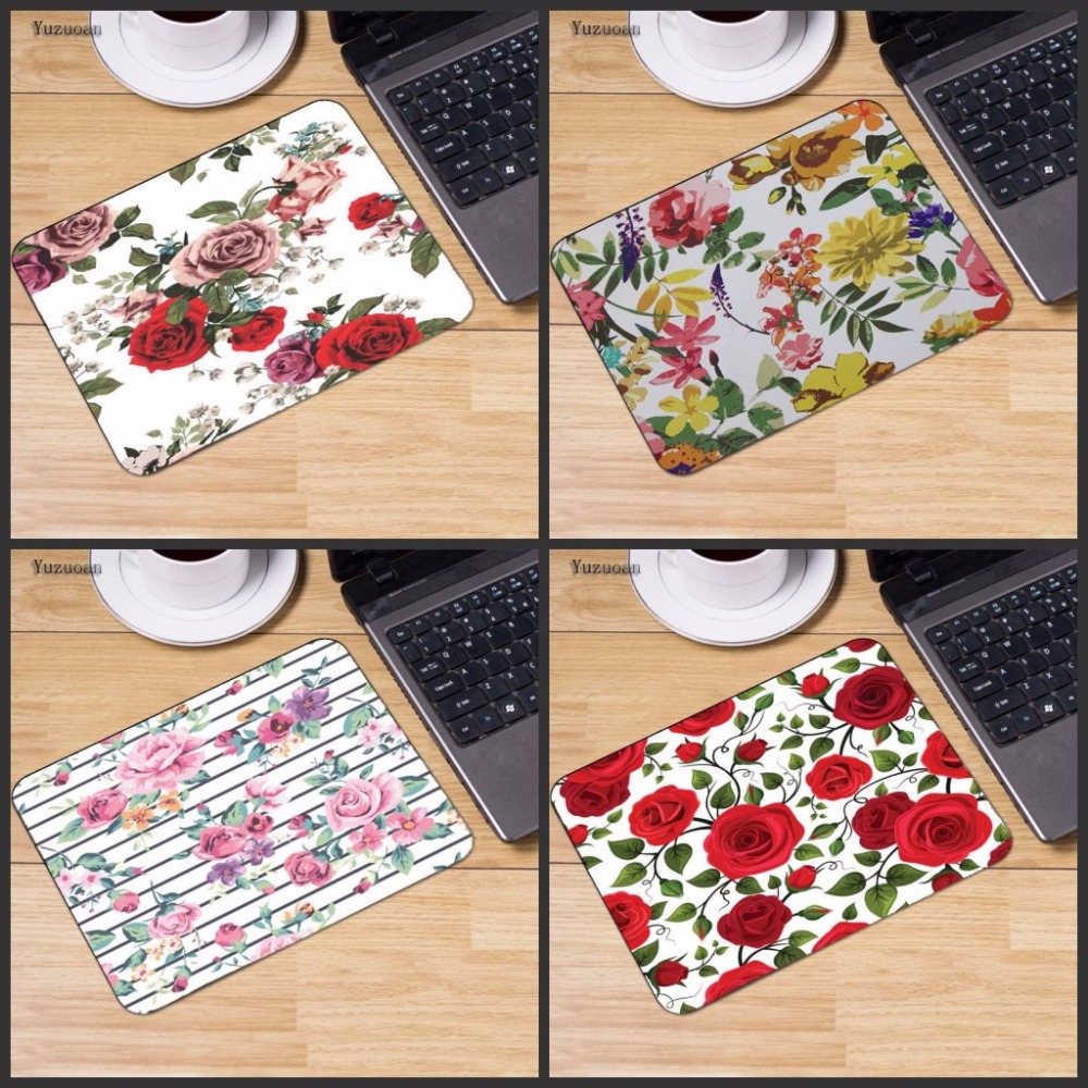 Yuzuoan Flowers mousepad gaming mouse pad gamer mouse mat pad game High quality computer desk padmouse keyboard large play mats