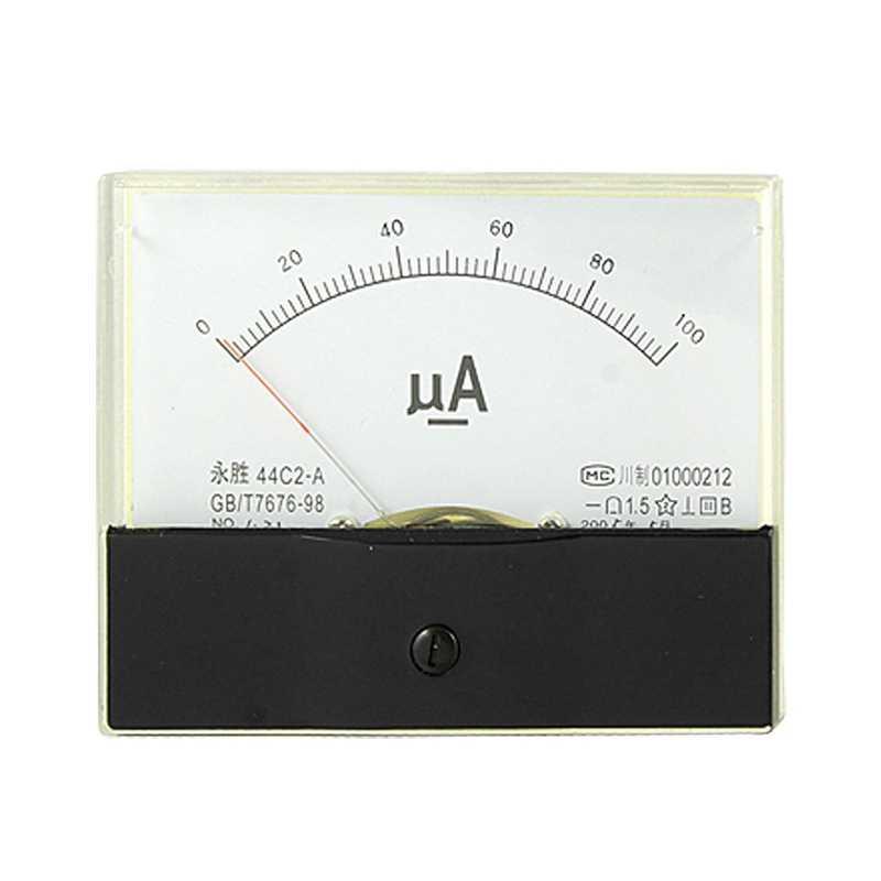 DC 0-100UA ток аналоговый измеритель в панель 100 V/50A Мощность 1,5