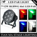 7X12 W LED PAR свет RGBW 4in1 плоским пар led управления DMX диско свет профессиональный ди-джей оборудование led par лампы