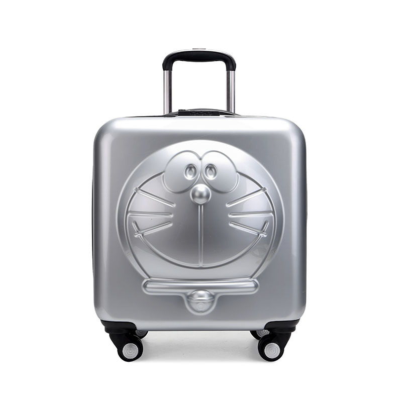 New Children Doraemon Cartoon Luggage 3D Stereo Machine Cat Luggage Universal Wheels Trolley Luggage Bag цена