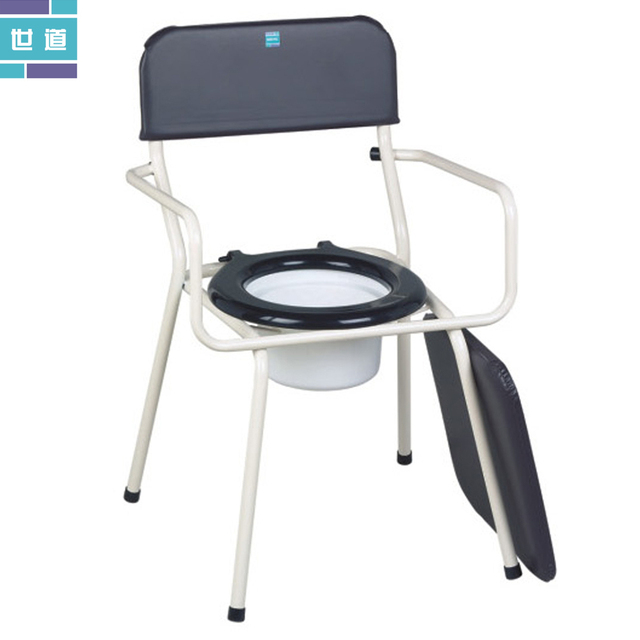 Morals elderly potty chair toilet Disabled Commode chair mobile ...
