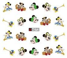 Nail Art Sticker Slider Water Decals Cartoon Mickey Mouse Horn Nails Stickers Design Decoration Manicure Foil Wraps Pegatinas стоимость