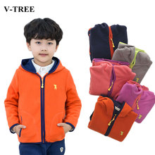 Winter Children Outerwear Fleece Jacket For Girls Thicken Boys Coats Kids Hoodies Windbreaker Teen Parka 2-14Y Toddler Clothing