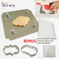 Cookie Decoration Stainless Steel Plate Set Plastic Vintage Plaque Frame Cookie Cutter Set Biscuit Mold Cutters