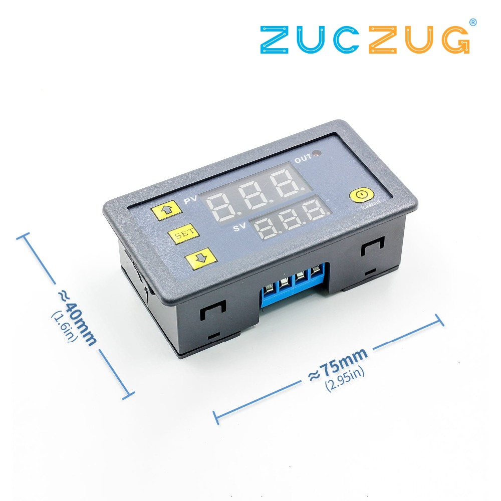 DC 12V 24V Digital Cycle Timer Delay Relay Board Module With LED Dual Time Display Timing Relay Switch For Car 0~999