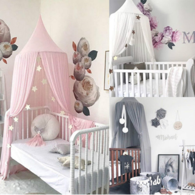 UK Baby Kids Princess Bed Canopy Bedcover Mosquito Net Curtain Bedding Dome Tent & UK Baby Kids Princess Bed Canopy Bedcover Mosquito Net Curtain ...