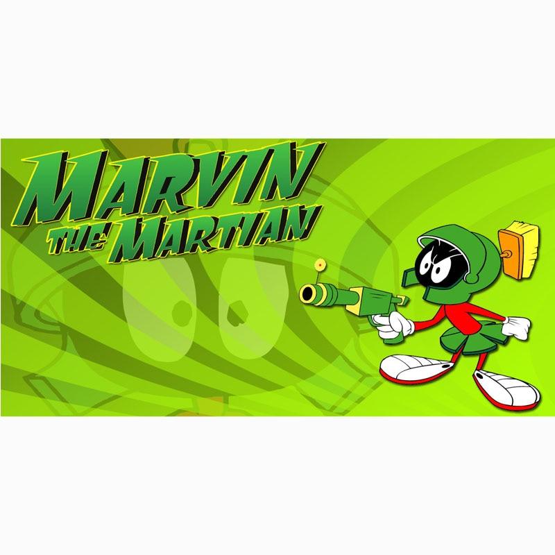 Marvin la martienne impression microfibre serviette de plage séchage rapide Sport Gym serviettes de bain tapis de Yoga personnalisé enfants jeter couverture 70X140 CM