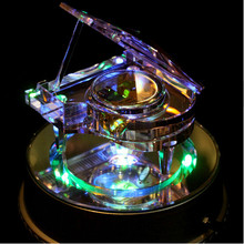 Send girlfriend Crystal piano music Box Castle in the Sky Creative Valentine's Day birthday gift novelty Rotate the base