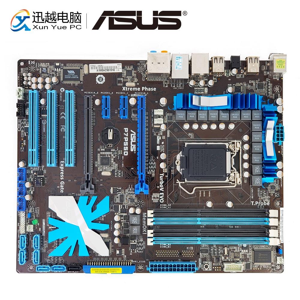 цена на Asus P7P55D Desktop Motherboard P55 LGA 1156 i5 i7 DDR3 16G eSATA SATA2 USB2.0 IEEE1394 ATX