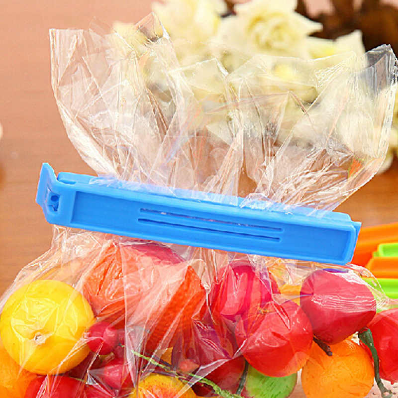 Plastik Klip Paket Sealer Makanan Ringan Chip untuk Penyimpanan Paket Penyegelan Tas Klip Sealer Tas Klip Clamp Pink Hijau