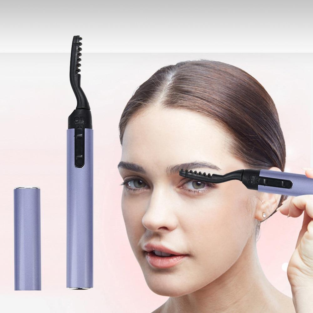 Hair Care Eyelash curler Cool Design Pen Electric Heated Makeup Eye Lashes Long Lasting Eyelash Curler 13.6cm Drop Shipping 3j06